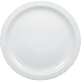 10inch Narrow Rimmed Plate Whiteware - Olympia - 12/Case