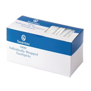 Plastic Toothpicks 1000 Per Box