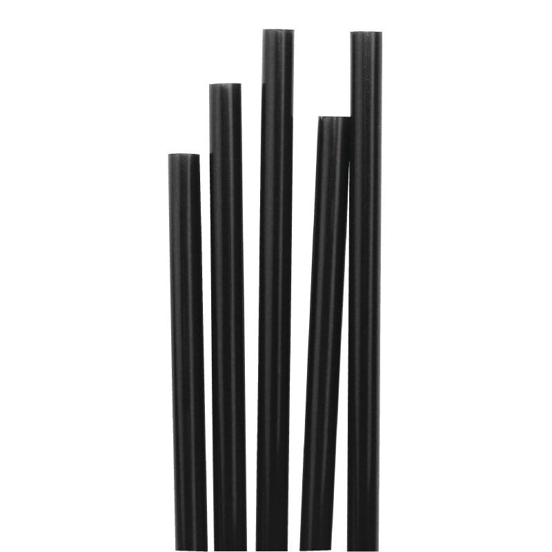 Cocktail Sip Straws Black 1000 Per Pack
