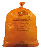 ORANGE CLINICAL WASTE BAG H/D 380X711X990 80L 6RX25 FLO511