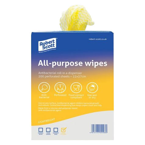 ALL PURPOSE CLOTH 200 PER ROLL YELLOW