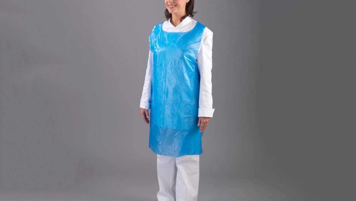 Blue Poly Aprons 100 Per Pack Grade A Thickness