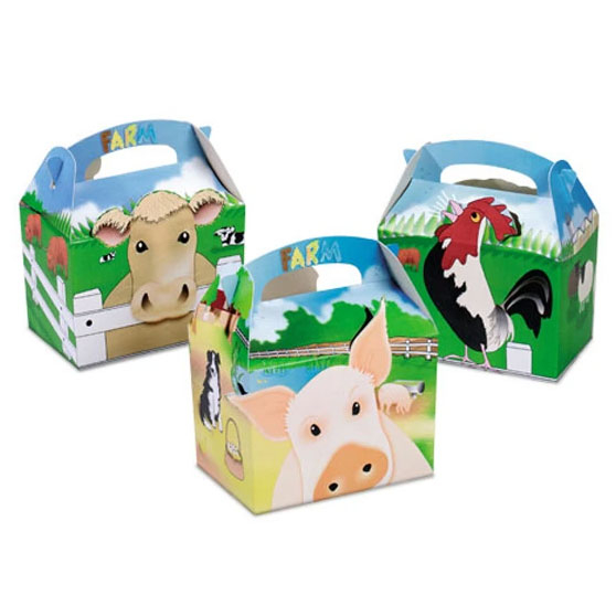 FARMYARD CHILDRENS MEAL BOXES 250 PER CASE