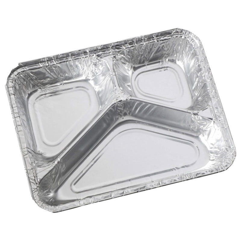 3 COMPARTMENT FOIL CONTAINER CASE X 300         12038