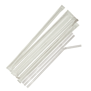 Individual Paper Wrapped Straw Clear Box X 250