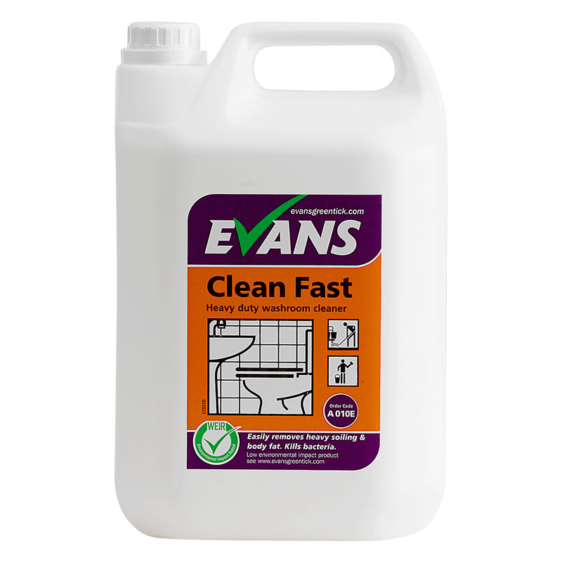 CLEAN FAST BACTERCIDAL WASHROOM CLEANER - 2x5L