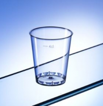 50ML DISPOSABLE PLASTIC SHOT GLASS   CASE X 1000
