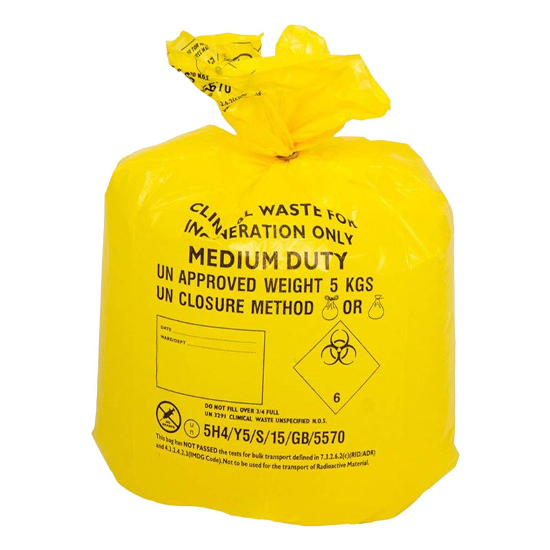 Yellow Clinical Waste Bag M/D 20RX50 24L 285X560X635 FLO507