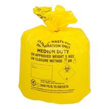 Yellow Clinical Waste Bag M/D 10RX50 24L 285X560X635