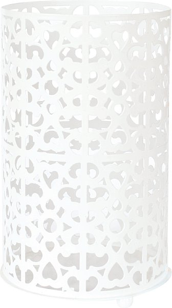 Candle Holder White Metal 200*120MM - 4 Per Case 164192