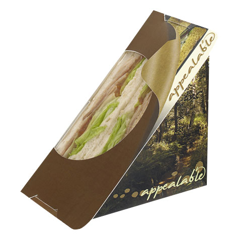 PEEL AND SEAL SANDWICH WEDGE BROWN - 500 PER CASE - ST50WO