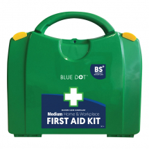 MEDIUM WORKPLACE FIRST AID KIT GREEN 22.5CMx27.5CMx9CM