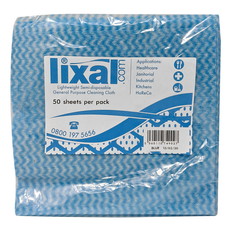 LIXAL COTTONETTE WIPE BLUE PACK X 50