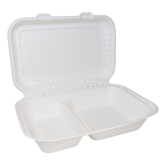2 SECTION BIO BURGER BOX 500 PER CASE