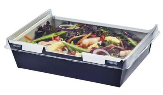 COMBIONE TRAY WITH LID BLACK 1280ML CASE X 200