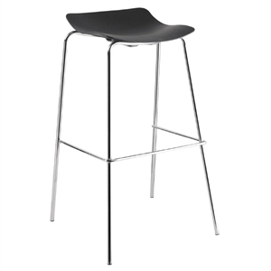 Bolero Polyprop Bar Stool With Chrome Legs    Pack X 4