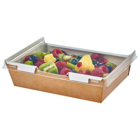 COMBIONE TRAY WITH LID KRAFT 1280ML CASE X 200