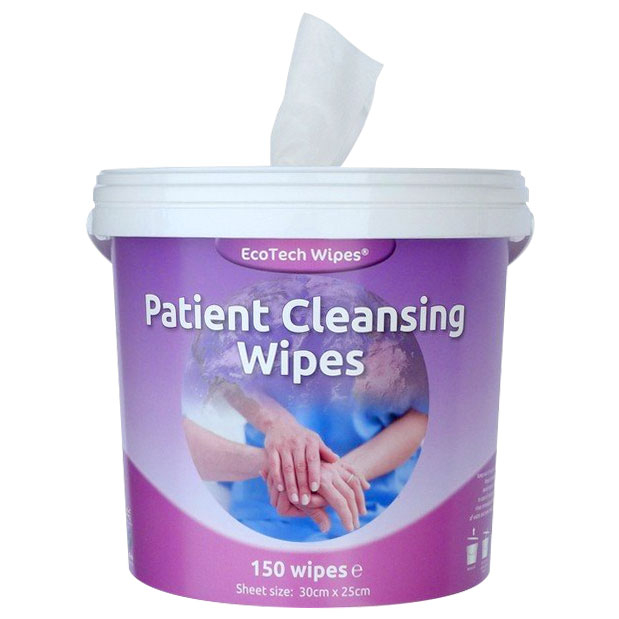 Patient Cleansing Medical Wipes (Tub/150)