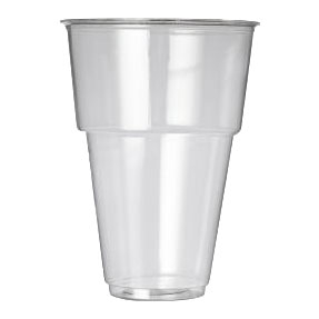 OXO BIODEGRADEABLE FLEXY GLASS 1/2 PINT TO RIM CE MARKED 1000