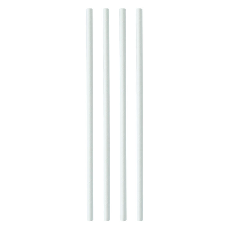 WHITE PAPER STRAW 200x6MM PACK X 250