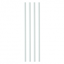 White Paper Straws 200x6mm (Pack/250)