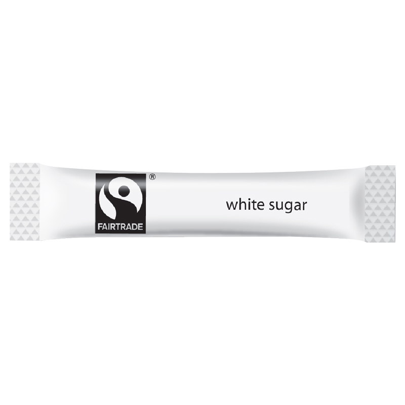 FAIRTRADE WHITE SUGAR STICKS 1.5G   CASE X 1000