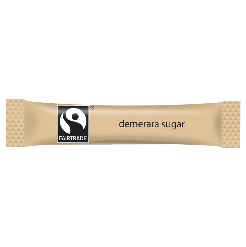 FAIRTRADE BROWN SUGAR STICKS 2.5G   CASE X 1000