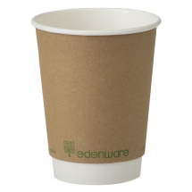 8oz Compostable Double Wall Smooth Wall Cup (Case/500)