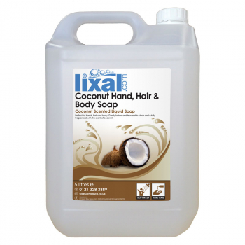 Lixal Coconut Hand, Hair and Body Soap 5L