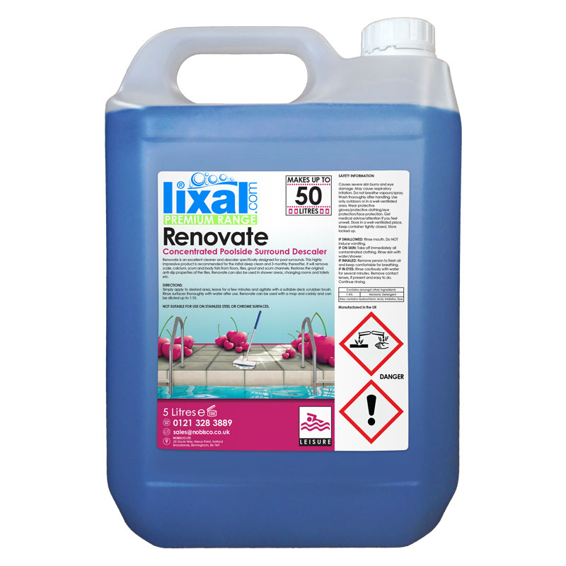 Lixal Renovate Concentrated Poolside Descaler 5L