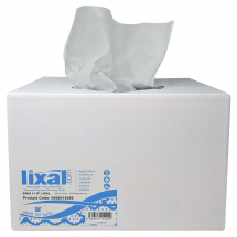 Lixal Lightweight White Wiping Cloth Pop Box (Case/200)