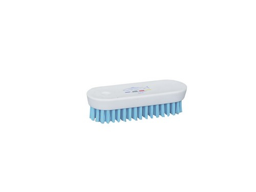 White Plastic Nail Brush Blue Bristles