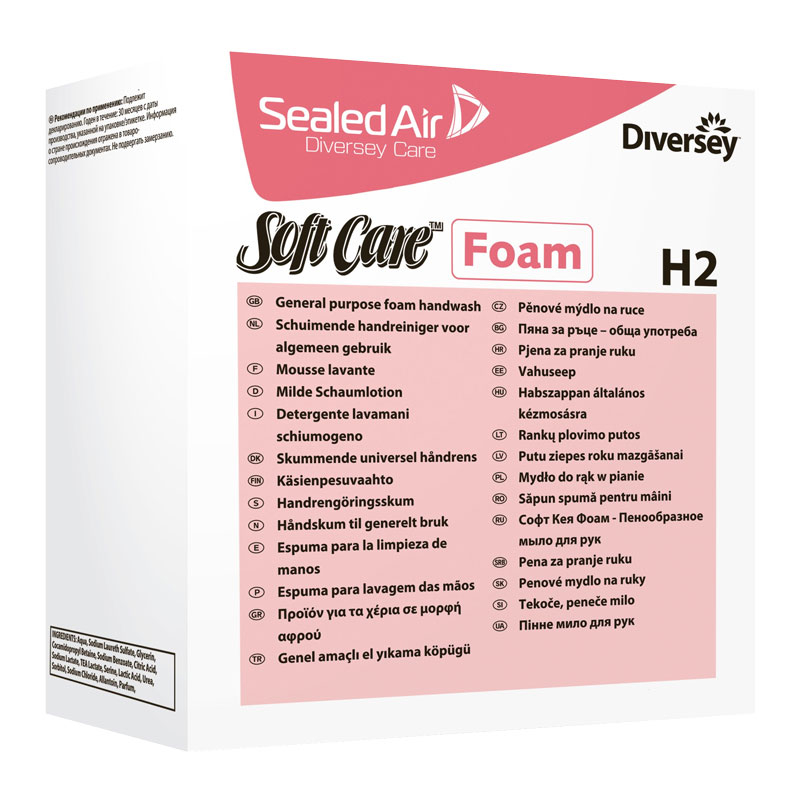 Soft Care Foam Soap H2 6*700ml       7514368