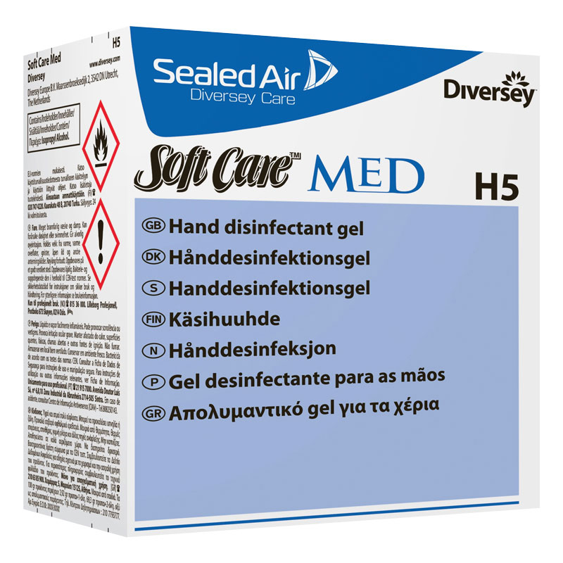 Softcare Med H5 Alcohol Gel 6*800ML Per Case