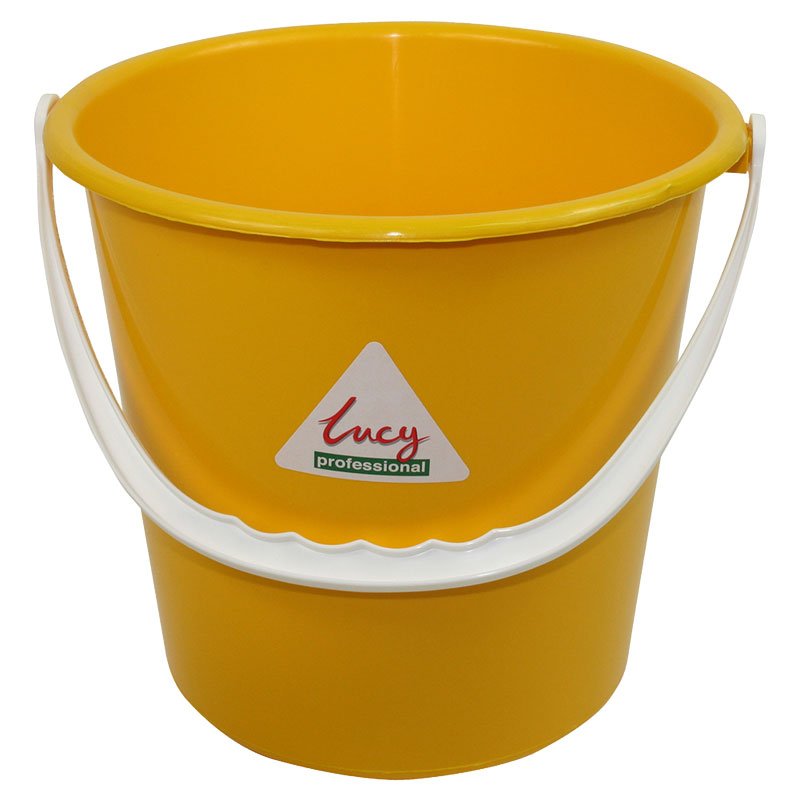 10L Bucket Plastic - Yellow SYR Lucy Brand Lined