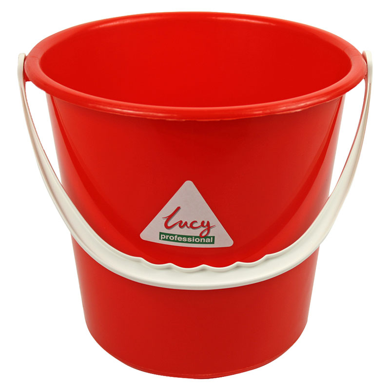 10L Bucket Plastic - Red SYR Lucy Brand Lined