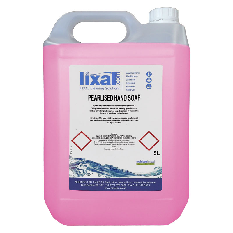 LIXAL PINK CONTRACT HAND SOAP 5L
