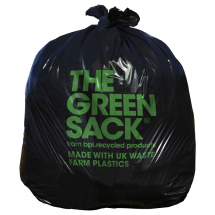 "Black Refuse Sacks 18x29x38"" CHSA 10kg Green Sack (Case/200)"