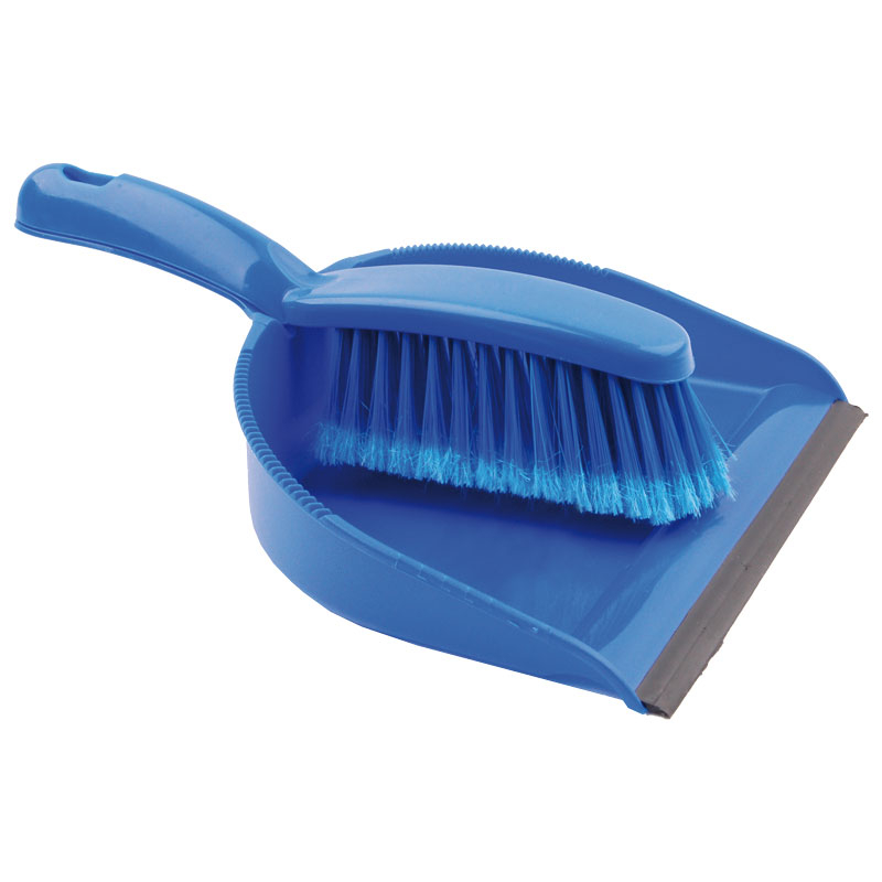 Blue Dustpan &  Brush