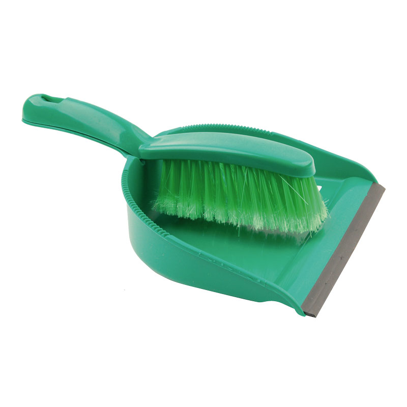 Green Dustpan & Brush