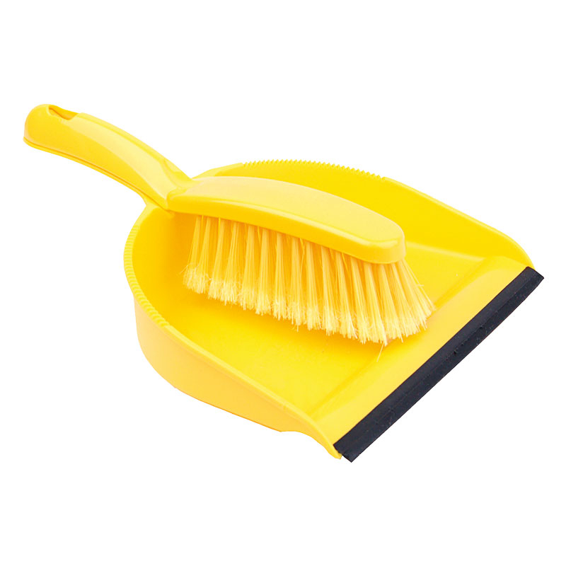 Yellow Dustpan &  Brush