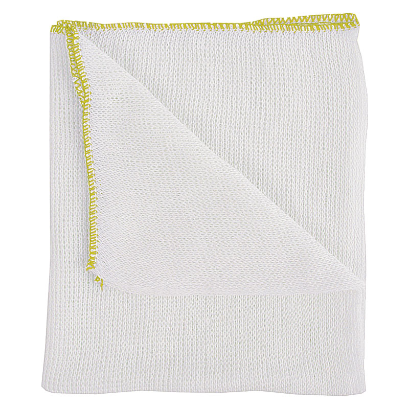 Dish Cloth Yellow Edge 12*18inch 10 Per Pack