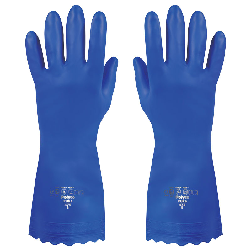 PURA GLOVES HYPO ALLERGENIC LARGE BLUE