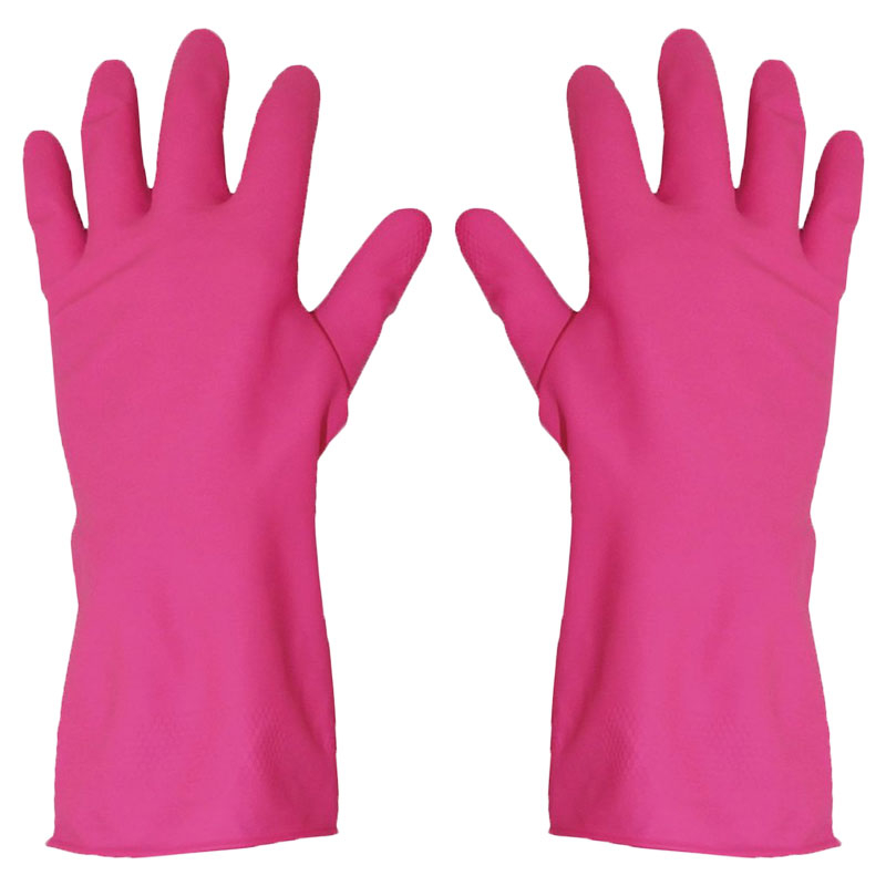 Washing Up Gloves Pink/Red Large