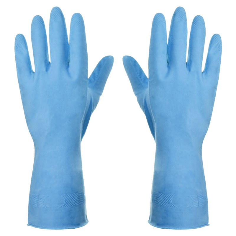 WASHING UP GLOVES BLUE SMALL