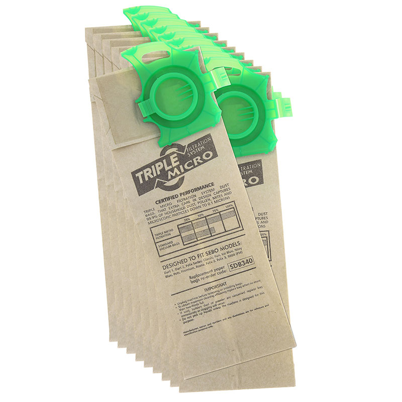 SEBO Vac Bag 10 Per Pack SDB340