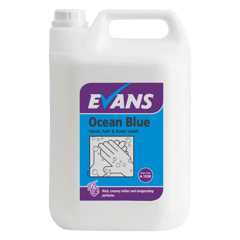 Anti Bacterial Bodywash And Shampoo Ocean Blue 5L