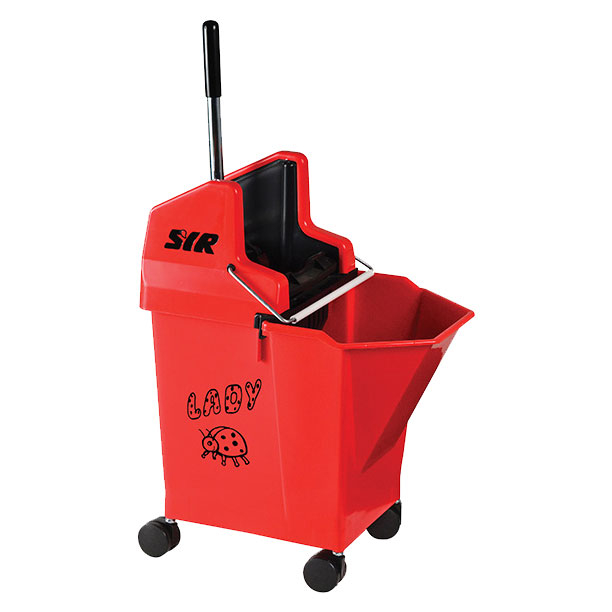 Lady Bucket With 2inch Castors Red - SYR