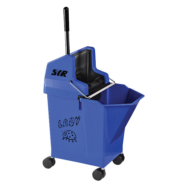 Lady Bucket With 2inch Castors Blue - SYR