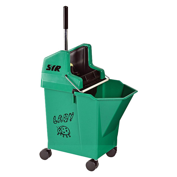 Lady Bucket With 2inch Castors Green - SYR